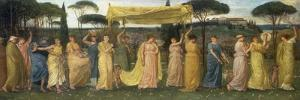 The Coming of May, 1873 by Walter Crane