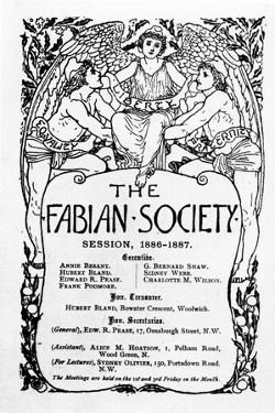 The Fabian Society Report, 1886-7 by Walter Crane
