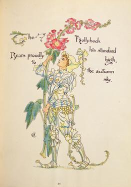 The Hollyhock from the 'Flora's Feast' by Walter Crane