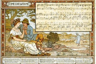 The Passionate Shepherd to His Love', Song Illustration from 'Pan-Pipes', a Book of Old Songs,…