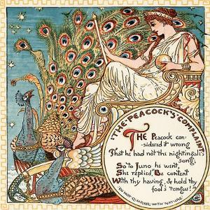The Peacock's Complaint, Illustration from 'Baby's Own Aesop', Engraved and Printed by Edmund… by Walter Crane