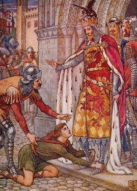 'Young Owen Appeals to the King', 1911 by Walter Crane