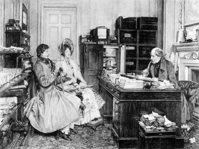 In the Solicitor's Office, Engraved by James Dobie by Walter Dendy Sadler