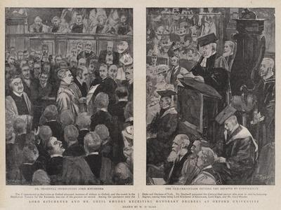 Lord Kitchener and Mr Cecil Rhodes Receiving Honorary Degrees at Oxford University