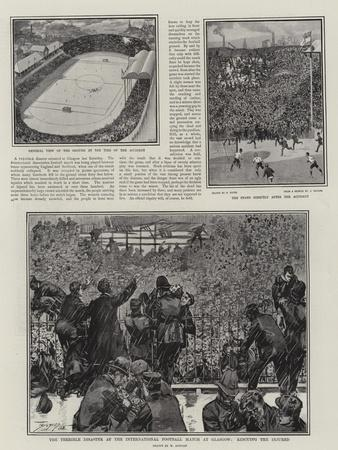 The Terrible Disaster at the International Football Match at Glasgow, Rescuing the Injured