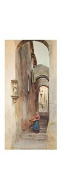 'Street in Cervo San Bartolommeo', c1910, (1912) by Walter Frederick Roofe Tyndale