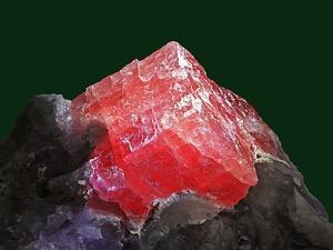 Rhodochrosite mineral from China's Wuton mine by Walter Geiersperger