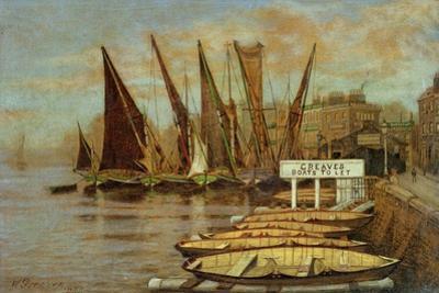 Greaves Boat Yard, Chelsea, 1858