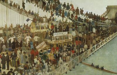 Hammersmith Bridge on Boat Race Day, 1862