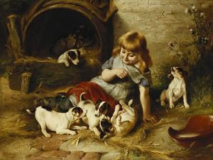 Playmates, 1890 by Walter Hunt