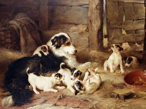The Foster Mother, 1887 by Walter Hunt