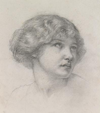 Head of a Girl (Pencil on Paper)