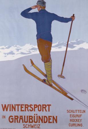Wintersport in Graubunden, 1906