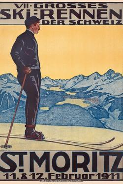 St, Moritz, 1911 by Walter Kupfer