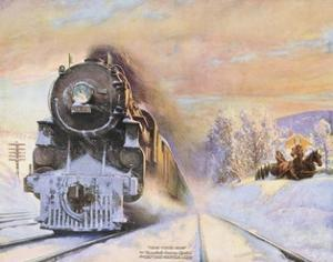 When Winter Comes, New York Central Lines by Walter L. Green