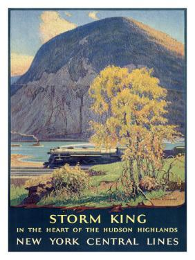 Storm King, New York Central Lines by Walter L^ Greene
