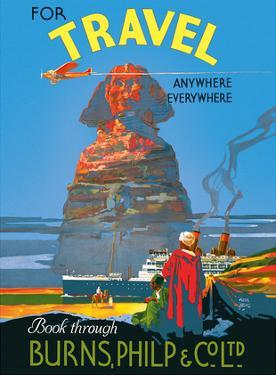 For Travel Anywhere, Everywhere - Air, Land, Sea - Sphinx - Burnes, Philip & Co. Ltd. by Walter Lacy Jardine