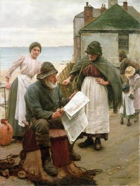 When the Boats are Away, 1903 by Walter Langley