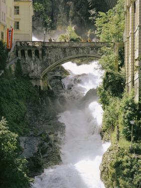Footbridge over a Waterfall in Badgastein by Walter Meayers Edwards