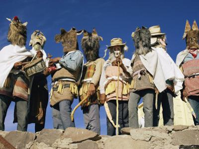 Mayo Indians Dressed in Costumes for a Religious Celebration