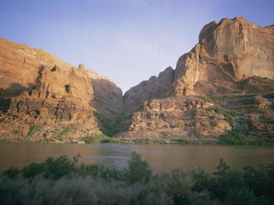 The Colorado River Flows Past Hole-In-The-Rock