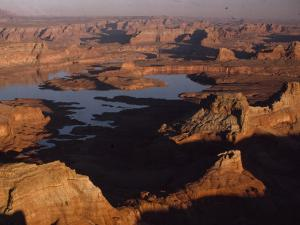 The Waters of Man-Made Lake Powell Rise in Glen Canyon by Walter Meayers Edwards