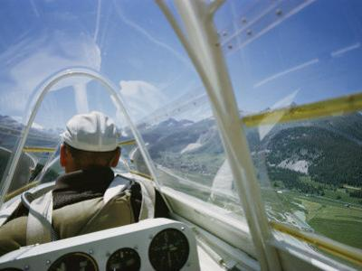 View Inside a Glider Floating Above the Inn Valley