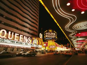 View of Downtown Las Vegas at Night by Walter Meayers Edwards