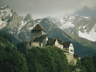 View of the Restored Vaduz Castle