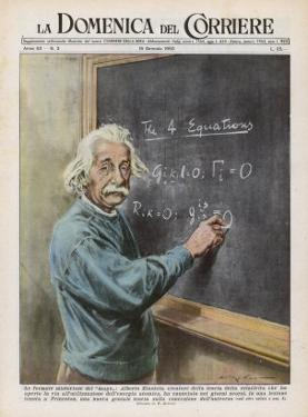 Albert Einstein at Princeton 1950 by Walter Molini