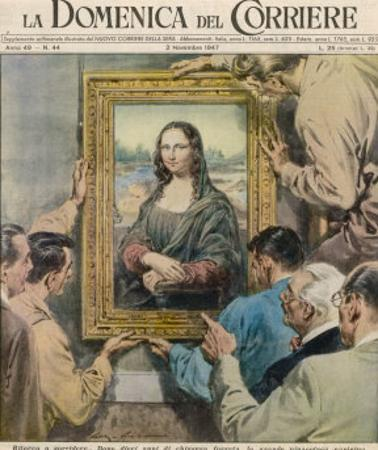 During World War Two Mona Lisa is Removed for Safe-Keeping from the Hands of Goering and His Mates by Walter Molini