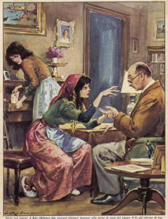 Gypsies Offer to Read the Hand of Signor F.Z. at Rho Milan by Walter Molini