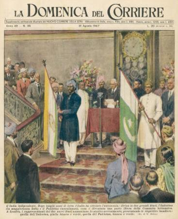 Independence for the Indian Sub-Continent Divides India and Pakistan by Walter Molini