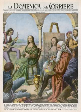 Leonardo Da Vinci Italian Artist Employs a Jester and a Musician to Keep His Model Smiling by Walter Molini