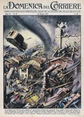 Six Die When the Pavia Region Italy is Hit by a Tornado by Walter Molini