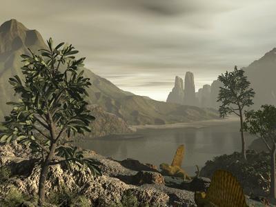 Dimetrodon, Artwork