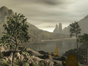 Dimetrodon, Artwork by Walter Myers