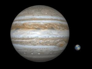 Jupiter And Earth Compared, Artwork by Walter Myers