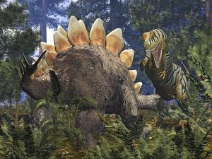 Jurassic Dinosaurs, Artwork by Walter Myers