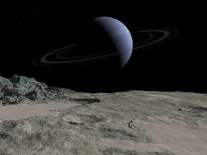 Neptune From Triton, Artwork by Walter Myers