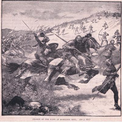 Charge of the Scots at Homildon Hill Ad 1402 by Walter Paget