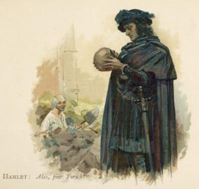 Hamlet with Yorick's Skull by Walter Paget
