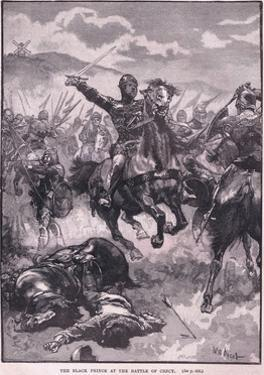 The Black Prince at the Battle of Crecy Ad 1346 by Walter Paget