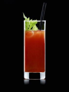 Bloody Mary with Straw by Walter Pfisterer