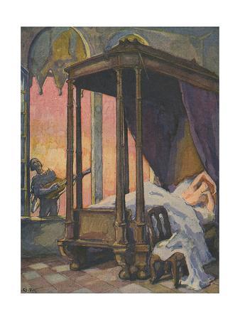 Scene of Schubert's Serenade