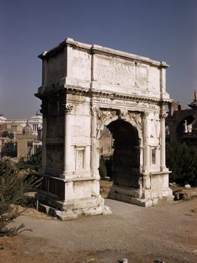 Arch of Titus, Commemorating Capture of Jerusalem in 70 AD, Rome, Lazio, Italy by Walter Rawlings