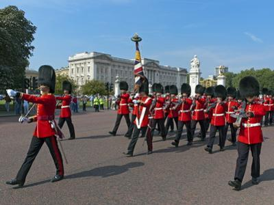 Grenadier Guards March to Wellington Barracks after Changing the Guard Ceremony, London, England