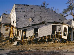 Hurricane Damage, Louisiana, USA by Walter Rawlings