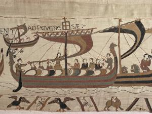 Invasion Fleet, Bayeux Tapestry, France by Walter Rawlings