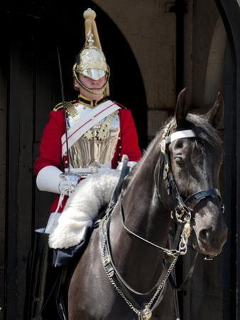 Life Guard One of the Household Cavalry Regiments on Sentry Duty, London, England, United Kingdom